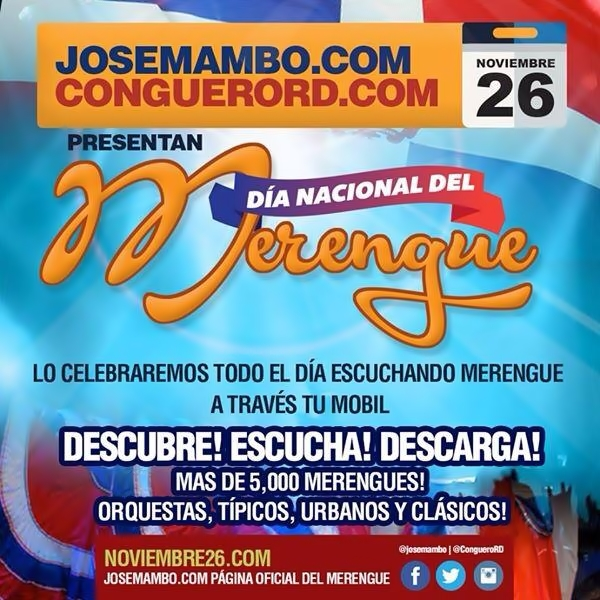 Dia Del merengue Nov26th
