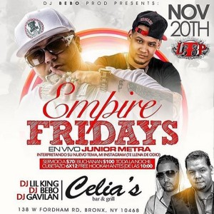 Celia ´s Friday empire flyer