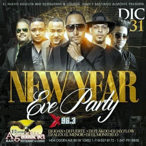 El Aguilita Bar New Year Eve party Dic 31